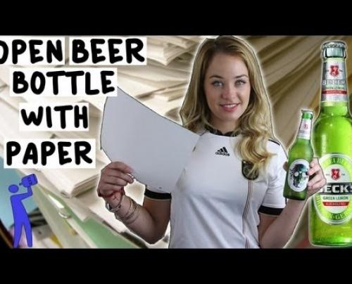 Πως ανοίγουμε ένα μπουκάλι μπίρας με μία κόλλα χαρτί